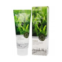 3W Clinic Moisture Peeling Gel Green tea Пилинг-скатка с экстрактом зеленого чая