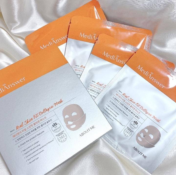 About Me MediAnswer Real Skin Fit Collagen Mask