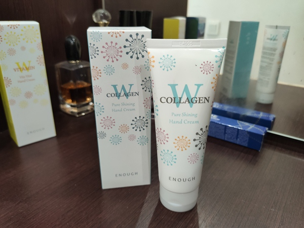 Enough W collagen pure shining hand cream