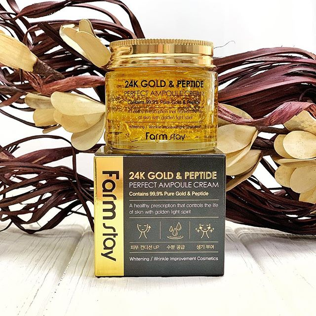 FarmStay 24K Gold & Peptide Perfect Ampoule Cream
