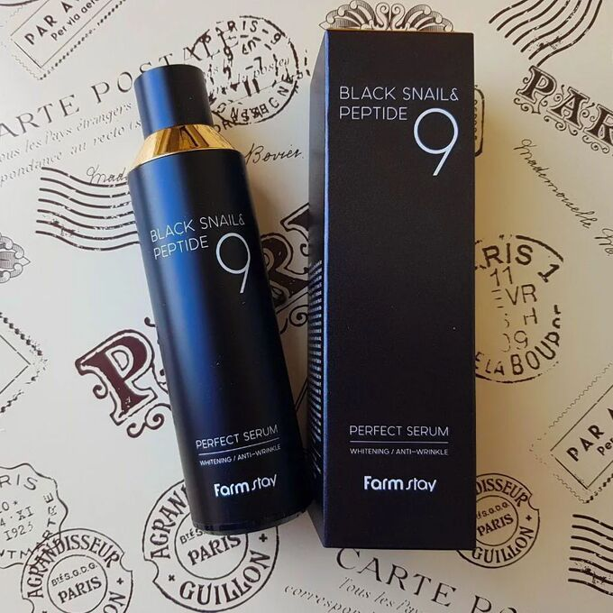 FarmStay Black Snail & Peptide9 Perfect Toner