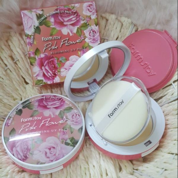 Farmstay Pink Flower Blooming Uv Pact Spf 50