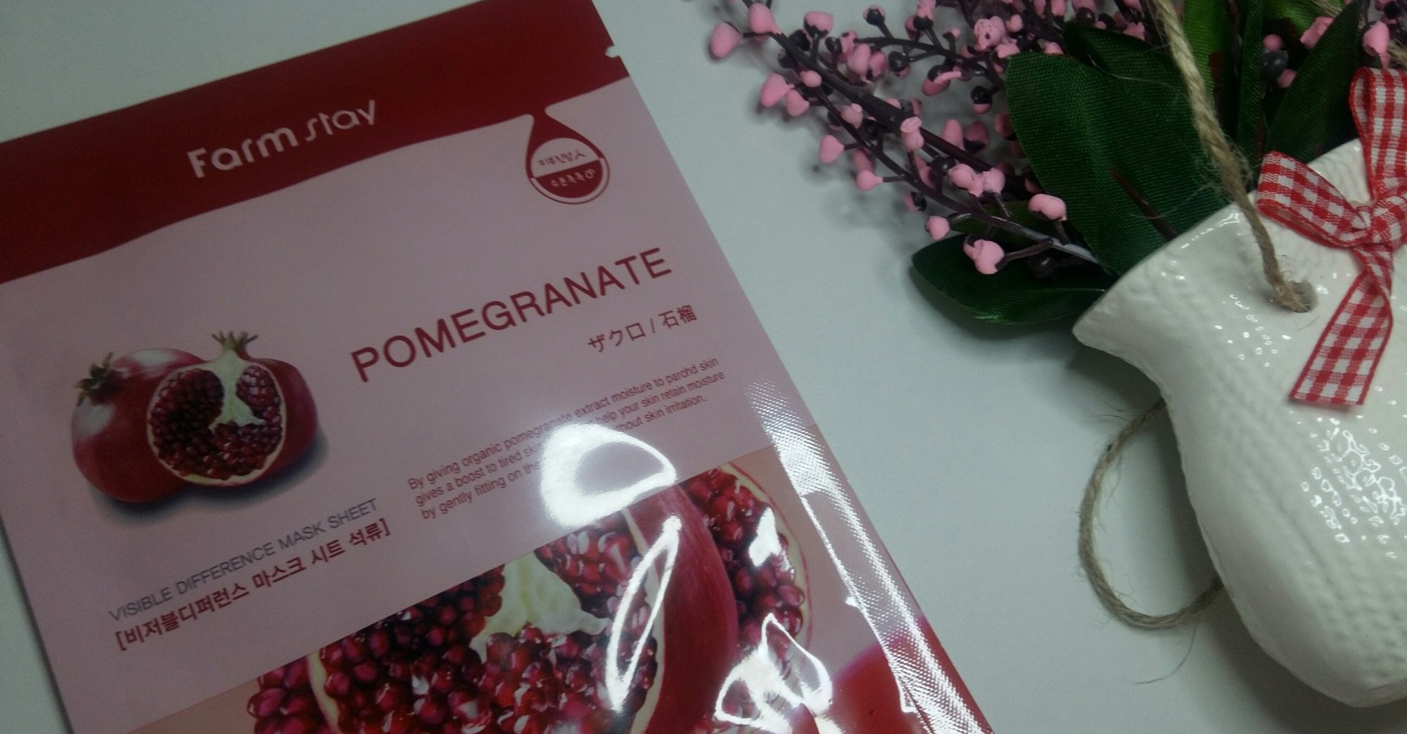 Farmstay Visible Difference Mask Sheet Pomegranate