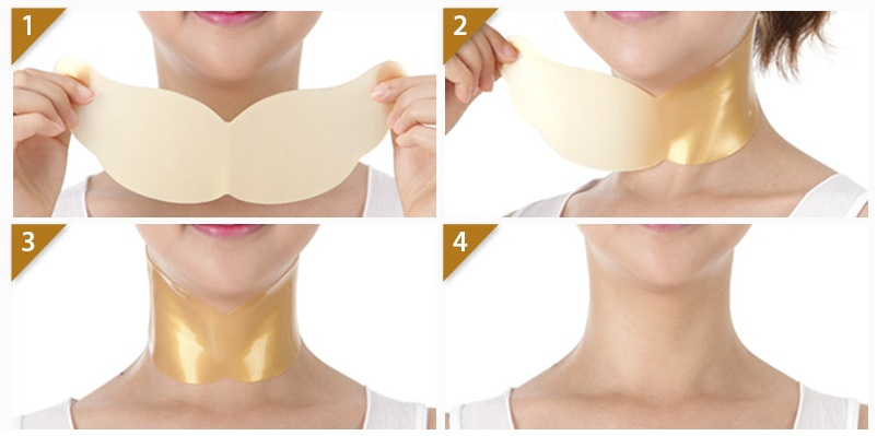 PETITFEE Hydrogel Angel Wings Gold Neck Pack